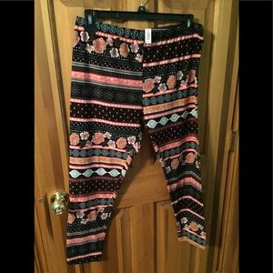 Pants - Floral leggings xxl new with tags